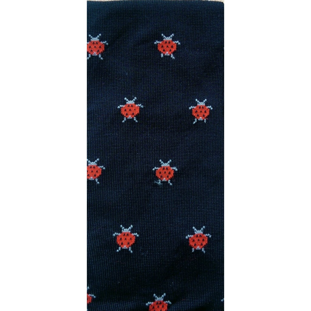 ART.COCCINELLA CALZE LUNGHE COTONE ESTIVO FONDO BLU Men's sock long in summer cotton – ONE SIZE (39-46)