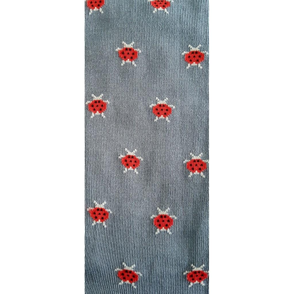 Calze lunghe in caldo cotone BICOLORE TURCHESE/BLU
