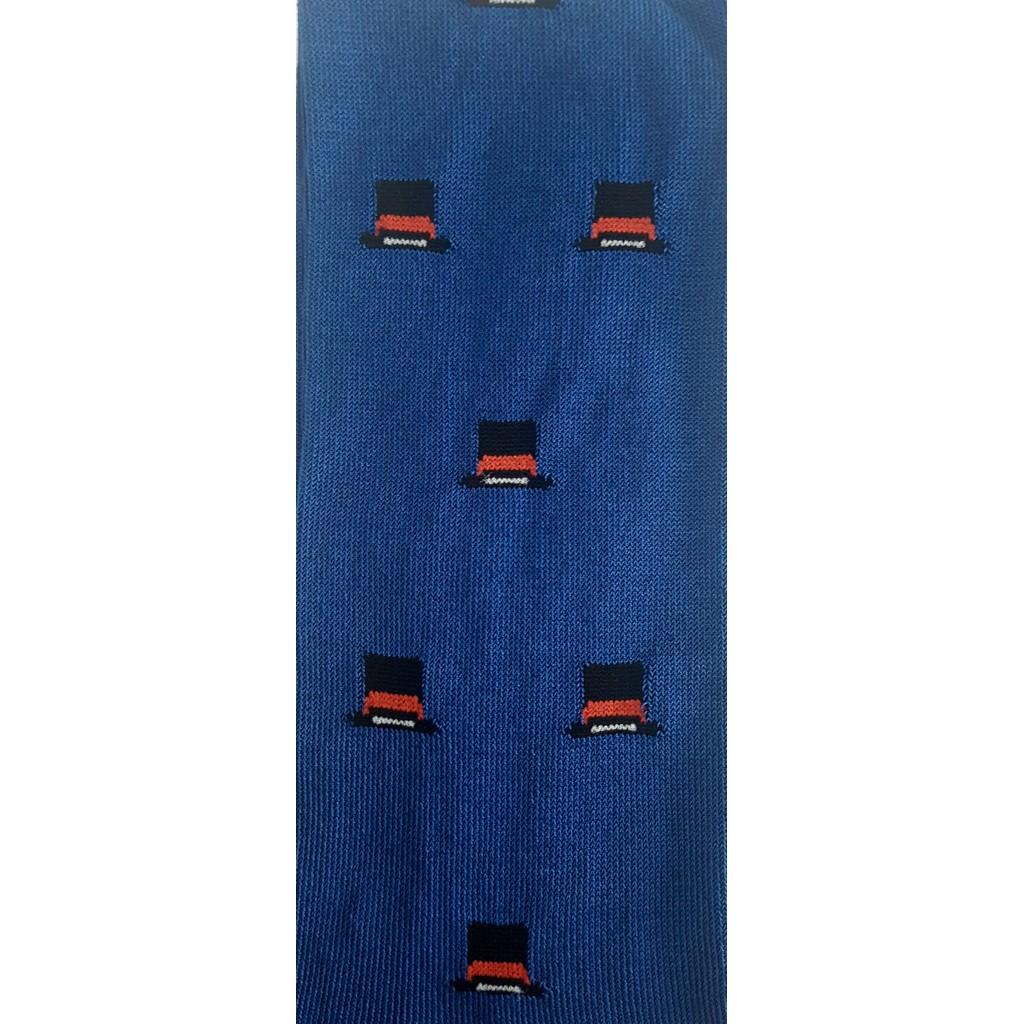 ART.CILINDRO CALZE LUNGHE IN COTONE MERCERIZZATO FONDO BLU JEANS Men's sock long in cotton – ONE SIZE (39-46)