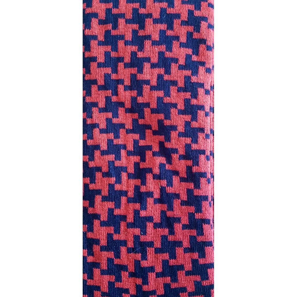 ART.PIED DE POULE CALZE LUNGHE COTONE CALDO FONDO BLU/GRIGIO -  Men's sock  long in warm cotton