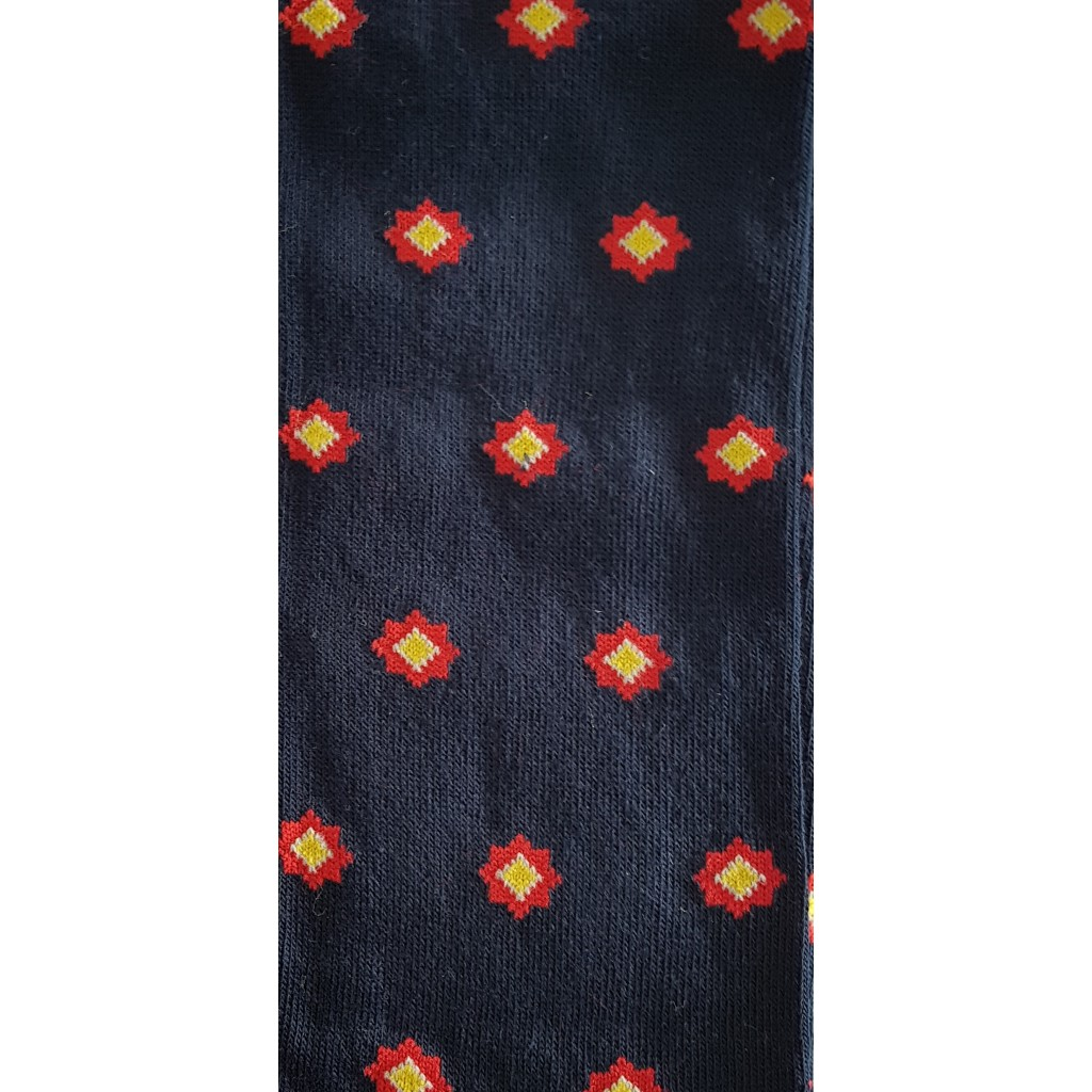 MBINI FANTASIA FONDO BLU - Men's sock long in warm cotton