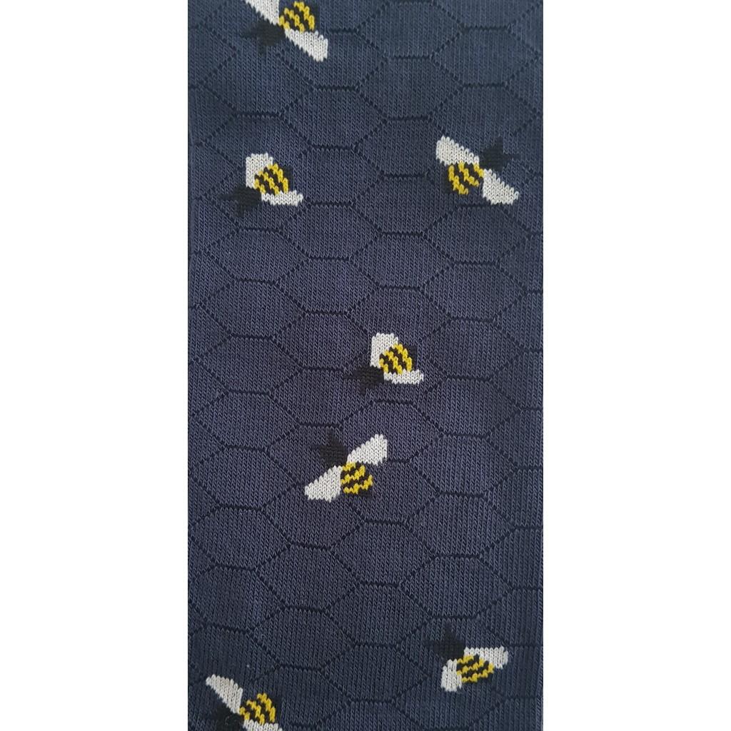ART. APE FONDO BLU - Men's sock long in warm cotton