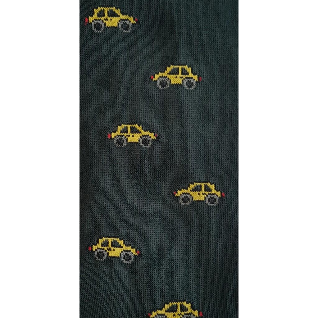 MACCHINA CALZA CORTA in caldo cotone fondo VERDE Men's sock  SHORT  in Warm  cotton – ONE SIZE (39-46)