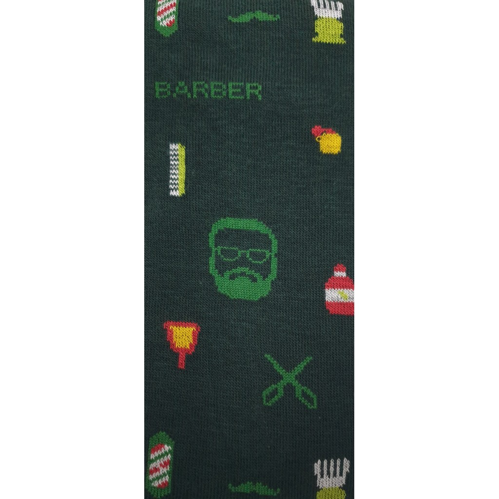CALZE UOMO BARBER LUNGHE COTONE CALDO FONDO VERDONE - Men's sock long in warm cotton