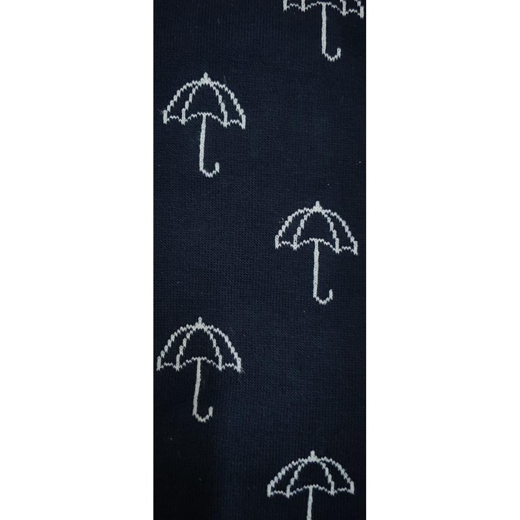 ART.OMBRELLO CALZE LUNGHE COTONE CALDO FONDO BLU/ROSSO - Men's sock long in warm cotton