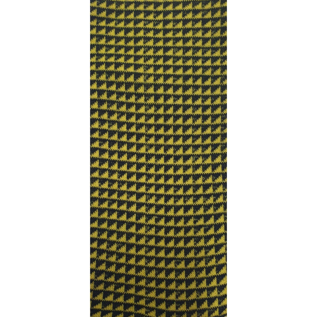 CALZE UOMO PATTERN ROMBINI LUNGA IN COTONE CALDO FONDO BLU/GIALLO Men's sock long in summer cotton
