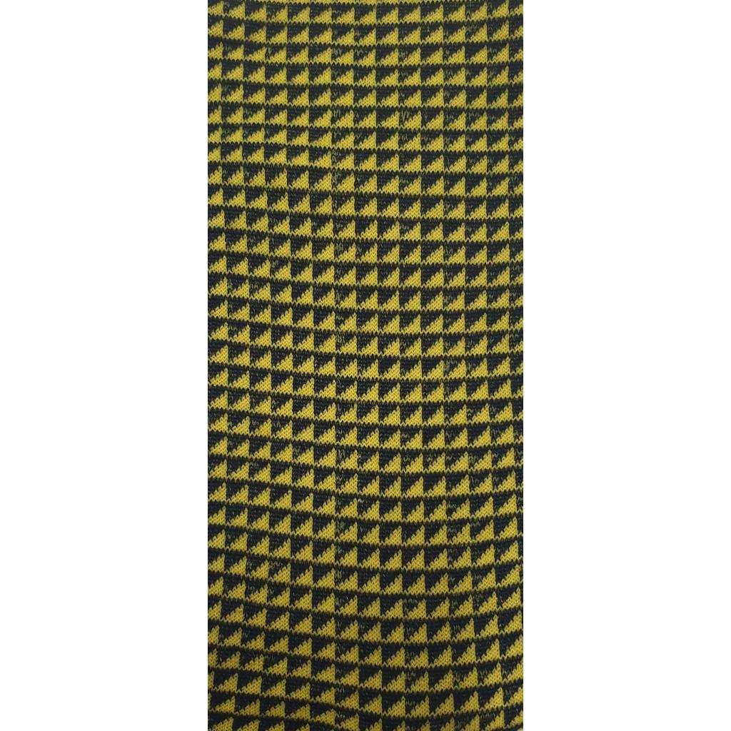 CALZE UOMO PATTERN ROMBINI LUNGA IN COTONE CALDO FONDO BLU/GIALLO Men's sock long in summer cotton