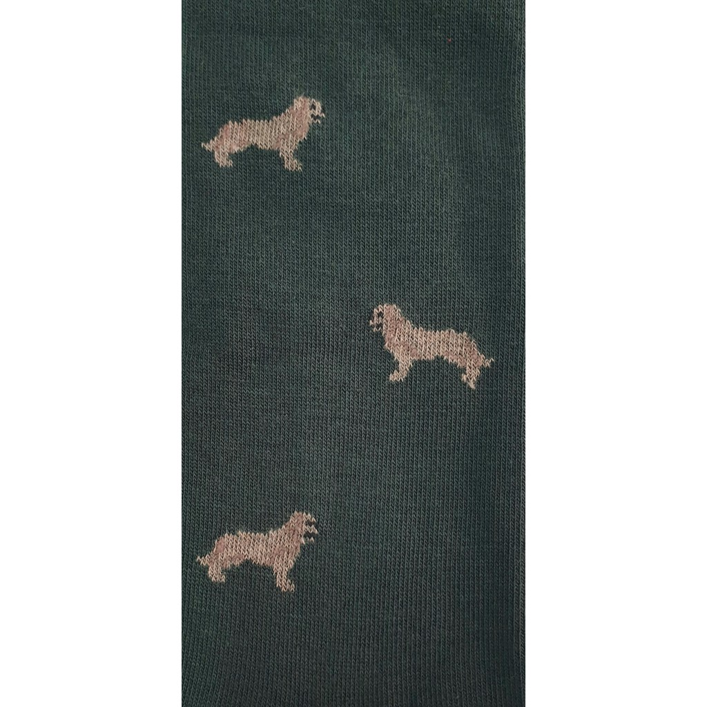 ART.LABRADOR CALZE LUNGHE COTONE CALDO FONDO VERDE - Men's sock long in warm cotton